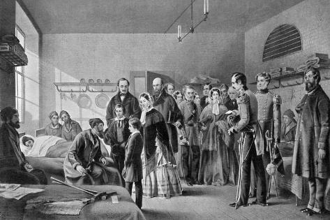 Queen Victoria Visiting the Wounded, 1850S Giclee Print