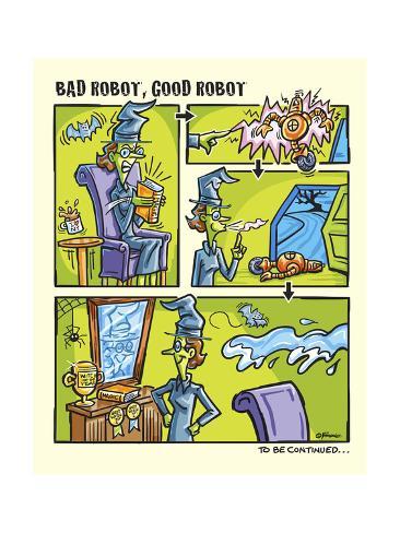 Bad Good Robot Strip 4 Giclee Print