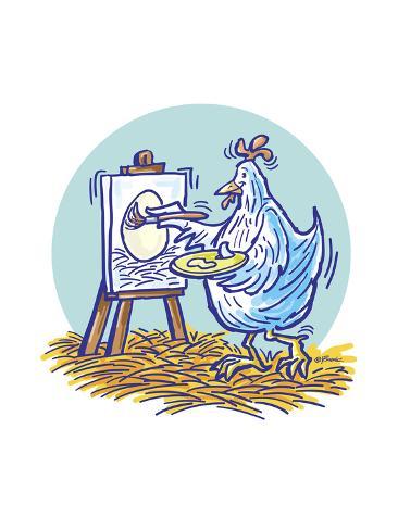 The Chicken Artist Giclee Print