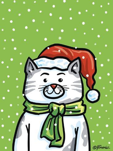The Christmas Cat Giclee Print