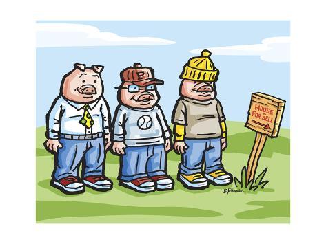 The Three Pigs Giclee Print