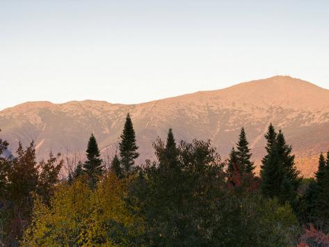 Mount Washington and the Presidential Range, White Mountains, New Hampshire, USA Impressão fotográfica