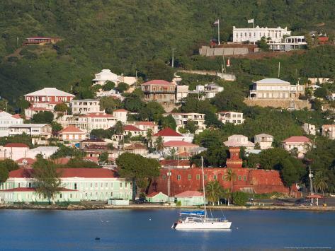 The Harbor at Charlotte Amalie, St. Thomas, Caribbean Photographic Print