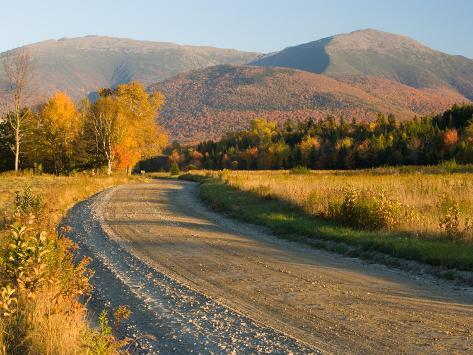 Valley Road in Jefferson, Presidential Range, White Mountains, New Hampshire, USA Photographic Print