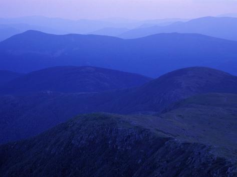 View From Mt. Monroe on Crawford Path, White Mountains, New Hampshire, USA Photographic Print
