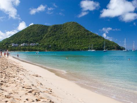 View From Reduit Beach St Lucia Caribbean