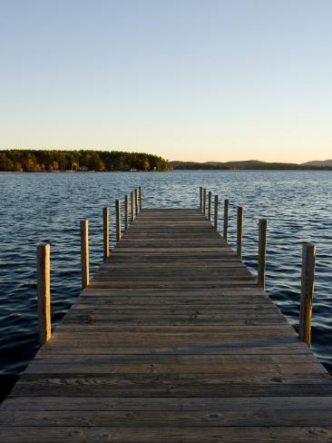 View of Lake Winnipesauke, Wolfeboro, New Hampshire, USA Impressão fotográfica