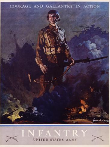 Infantry Recruitment Poster Giclee Print