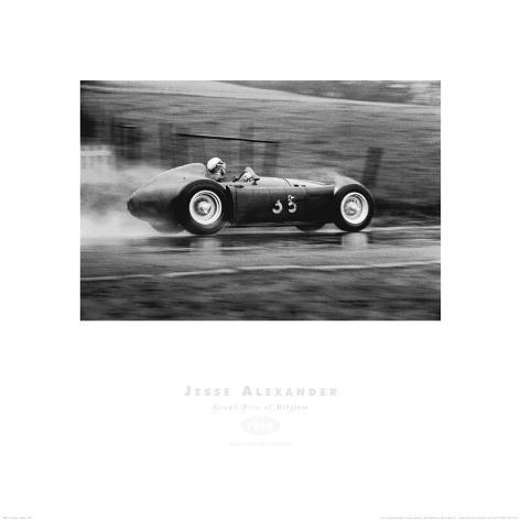 Grand Prix of Belgium 1955 Art Print