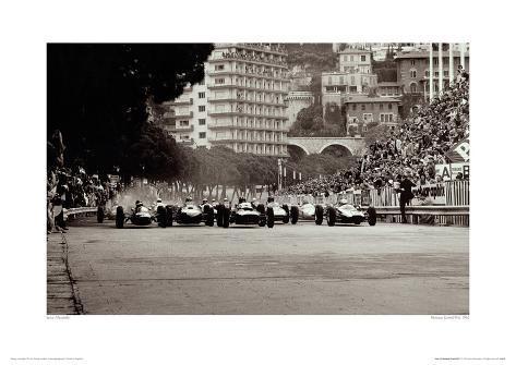 Monaco Grand Prix, 1962 Giclee Print