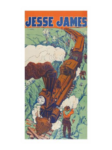 Jesse James Art Print