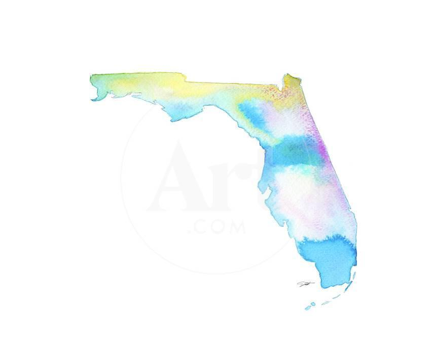 Florida State Watercolor Posters By Jessica Durrant At Allposters Com