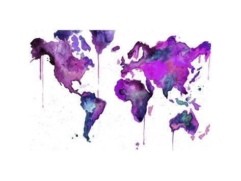 Watercolor Map No. 8 Giclee Print