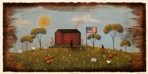 The Red Schoolhouse Art Print
