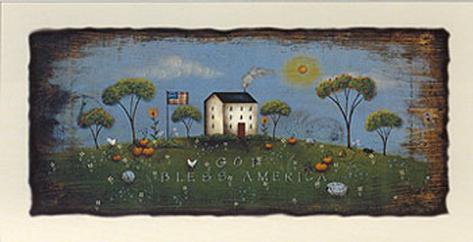 The White Schoolhouse Art Print