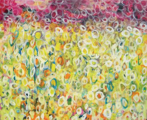 Dancing Meadow Stretched Canvas Print