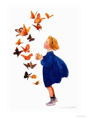 The Butterflies Art Print