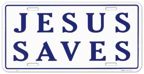 Jesús ahorra Carteles metálicos