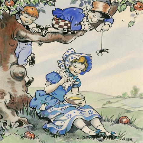 Little Miss Muffet Giclee Print