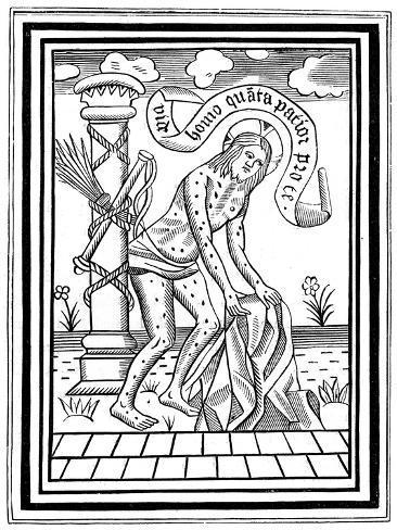 Jesus Christ after His Flagellation, C15th Century Lámina giclée