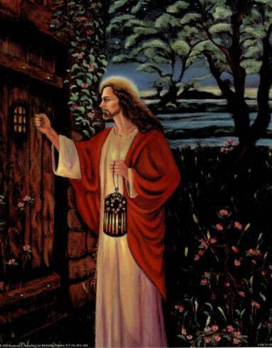 Jesus Christ Knocking at Door religious Mini Poster