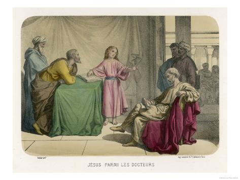 Jesus Discusses Theology with the Doctors in the Temple at Jerusalem Lámina giclée