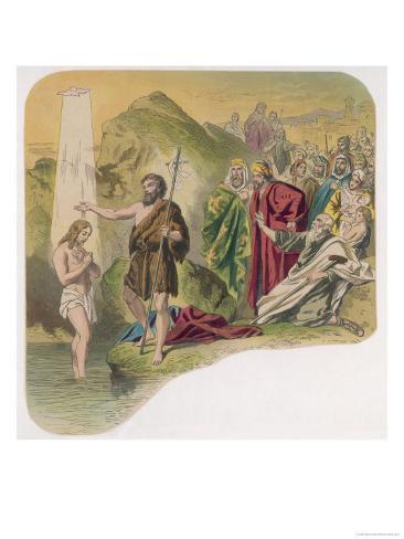Jesus is Baptised by John Lámina giclée