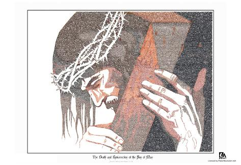 Jesus Luke 22-24 Text Poster Póster