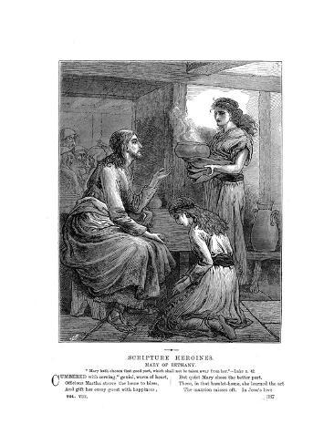 Jesus with Mary and Martha, C1870 Lámina giclée