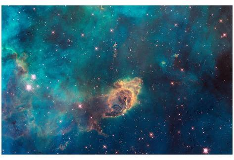 Jet in Carina WFC3 UVIS Full Field Space Photo Art Poster Print Poster