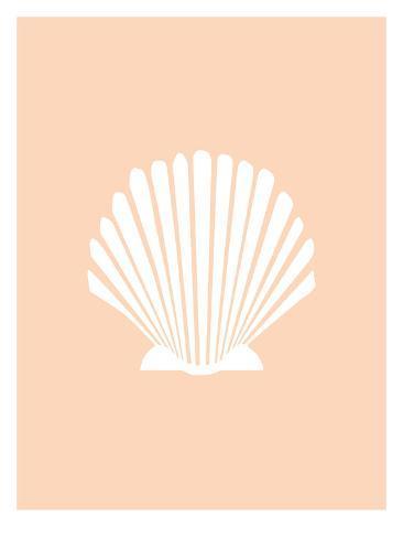 Peach Shell Art Print