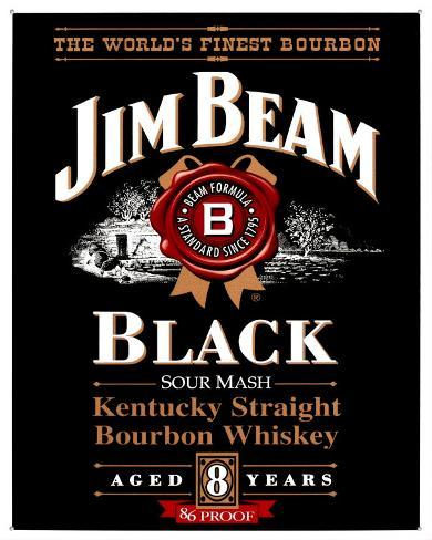 Jim Beam Black Label Tin Sign