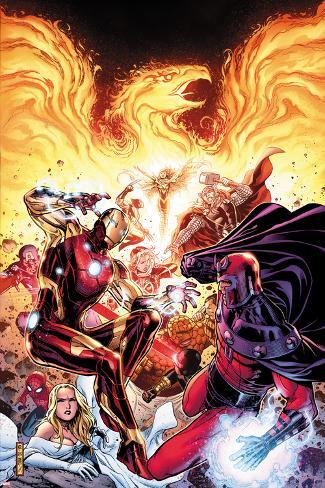 Avengers vs X-Men No.2: Iron Man, Magneto, Thor, and Hope Summers Poster