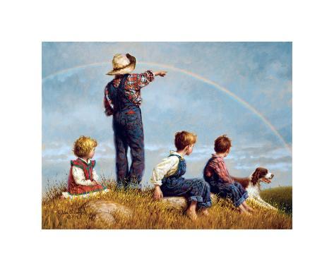 Follow the Rainbow Giclee Print