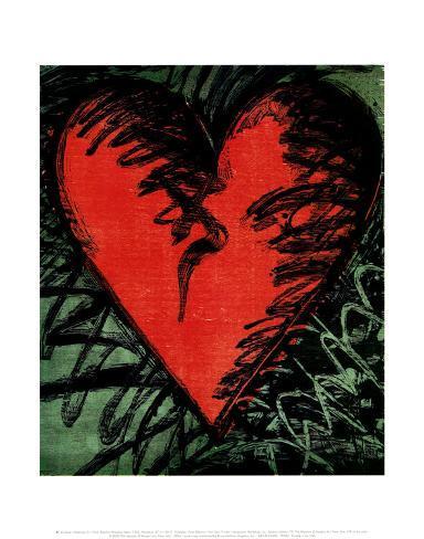 Rancho Woodcut Heart Framed Art Print