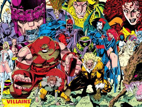 X-Men No.1 Pin-up Group: A Villains Gallery Poster