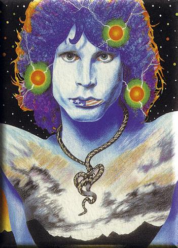 Jim Morrison -Snake Painting Poster