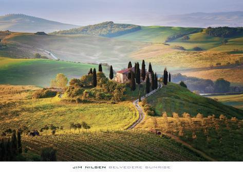 Belvedere Sunrise Tuscany Art Print