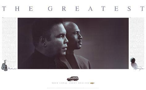 The Greatest: Muhammad Ali and Michael Jordan Art Print