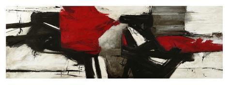 Red Profile Art Print