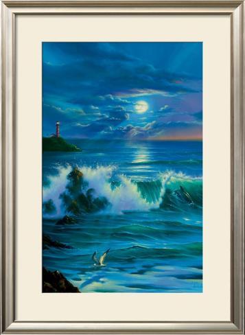 Moonlit Romance Framed Art Print