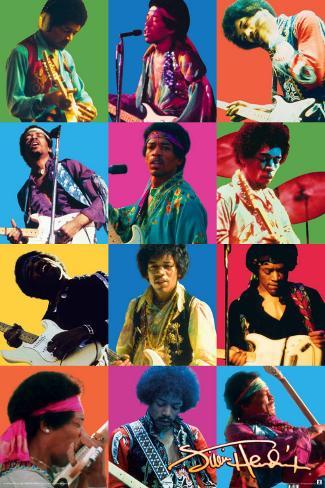 Jimi Hendrix Colors Poster