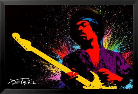 Jimi Hendrix Lamina Framed Poster