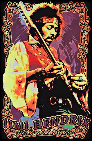 Jimi Hendrix Blacklight Poster
