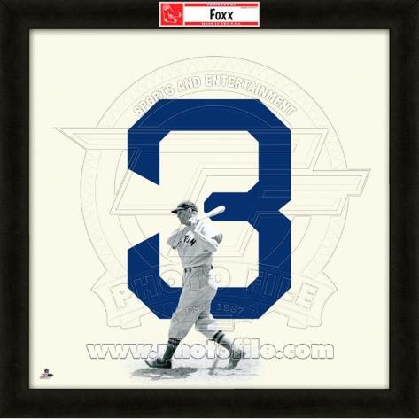 Jimmy Foxx, Red Sox representation of the player's jersey Framed Memorabilia