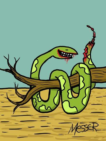 Canibanimals Snake Giclee Print