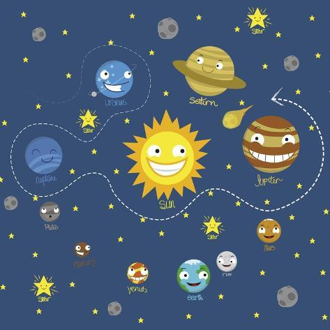 Solar System Giclee Print