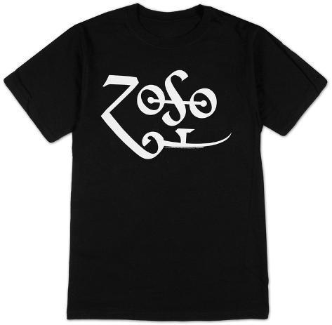 Jimmy Page - White Zoso Logo T-shirt