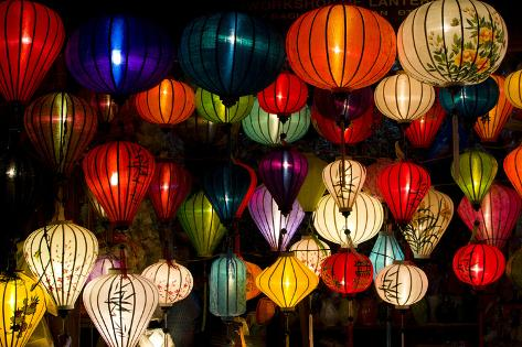 Handcrafted Lanterns in Ancient Town Hoi An, Vietnam Photographic Print