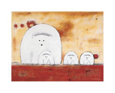 Sun Bears Art Print